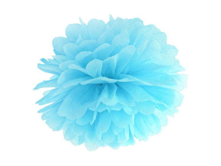 Χάρτινα Γαλάζια Pom Pom 25εκ