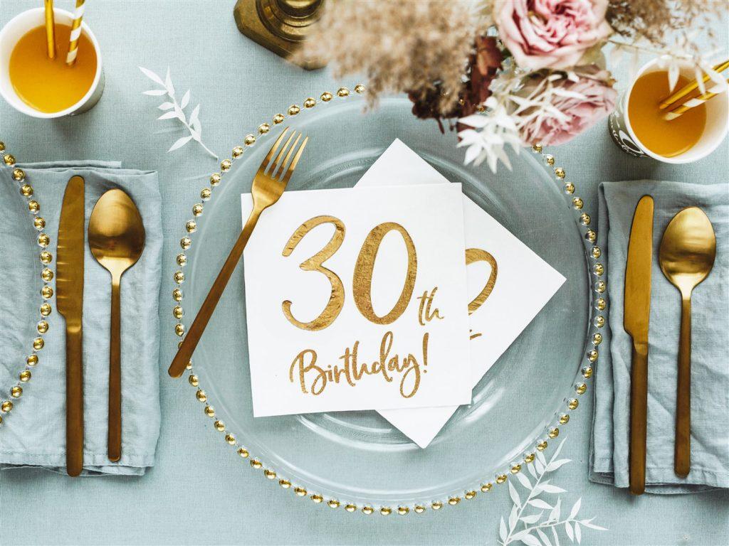 Χαρτοπετσέτες 30th Birthday 33×33εκ – 20 Τεμάχια