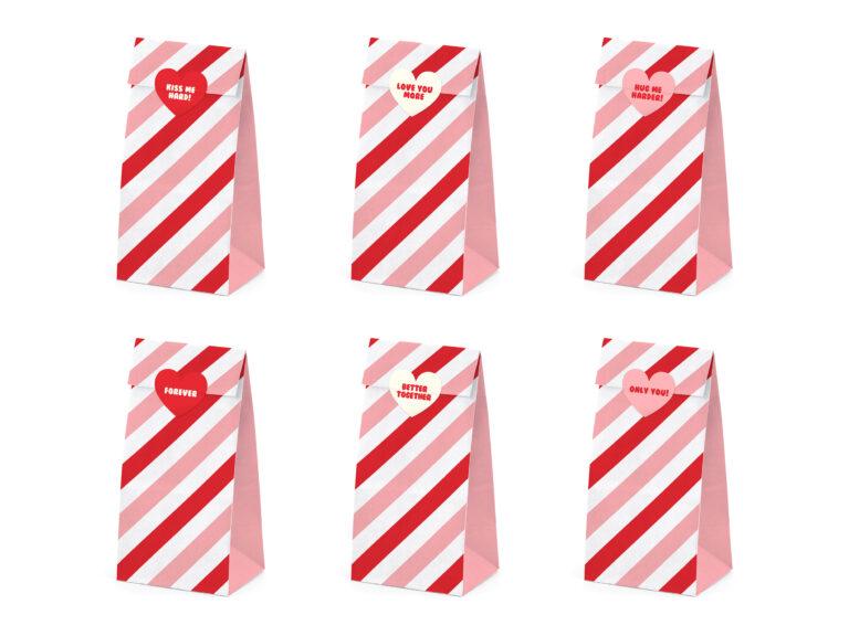 Χάρτινα Σακουλάκια Κερασμάτων Sweet Love – 6 Τεμάχια