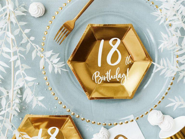 Χάρτινα Πιάτα 18th Birthday 20εκ – 6 Τεμάχια
