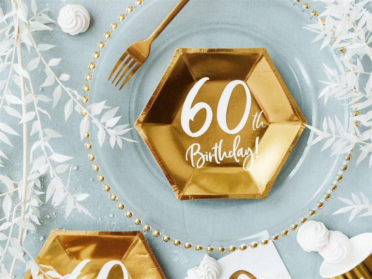 Χάρτινα Πιάτα 60th Birthday 20εκ – 6 Τεμάχια