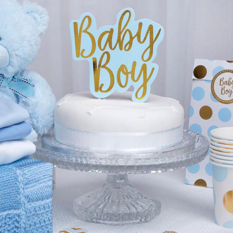 Χάρτινο Διακοσμητικό Τούρτας Baby Boy