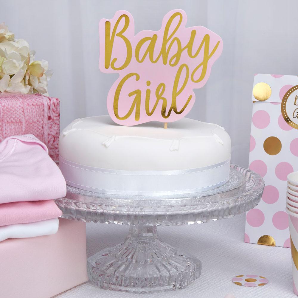 Χάρτινο Διακοσμητικό Τούρτας Baby Girl
