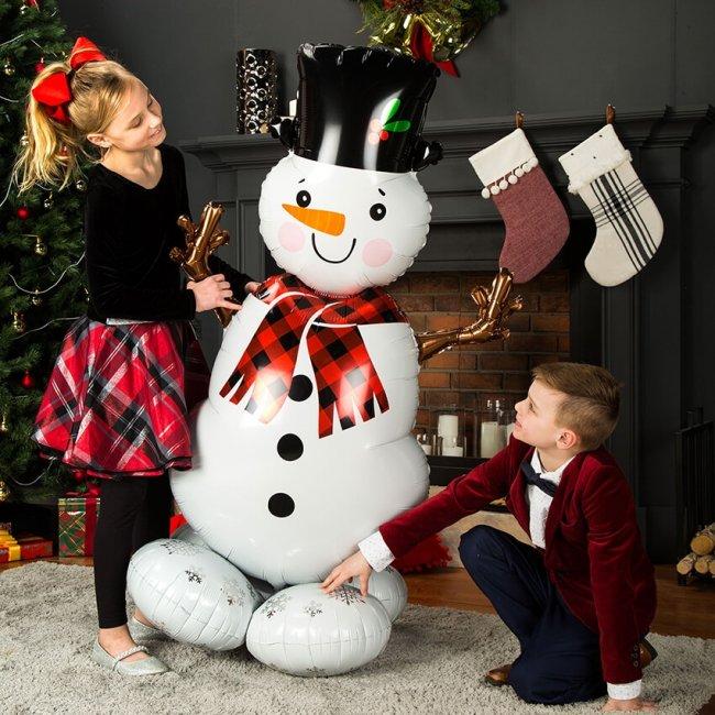 Μπαλόνι Foil Χιονάνθρωπος 88×139εκ
