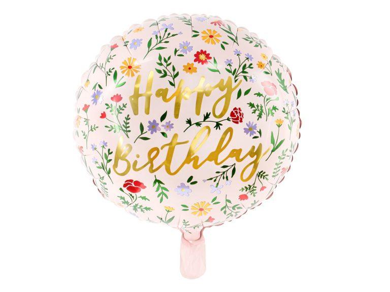 Μπαλόνι Foil Happy Birthday Floral – 35εκ