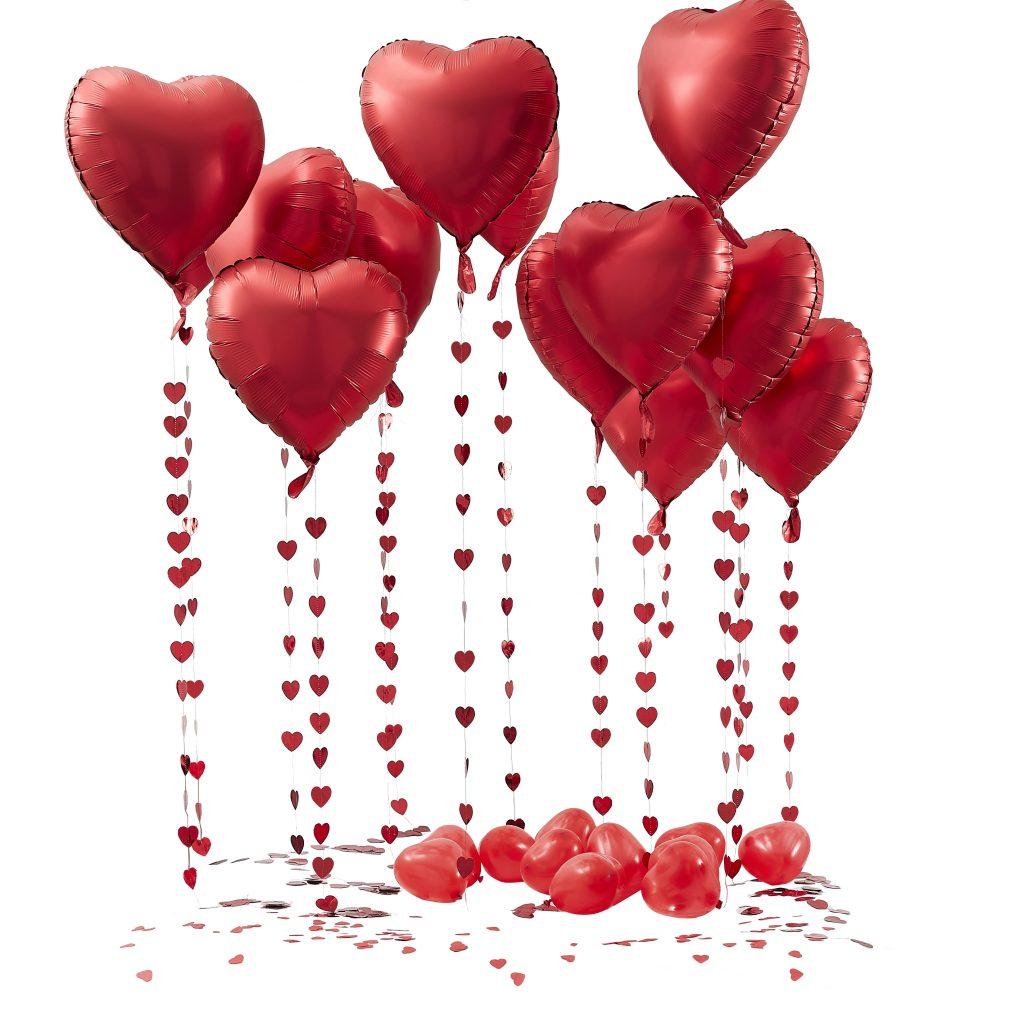 Σετ Διακόσμησης Μπαλονιών & Κονφετί Red Hearts