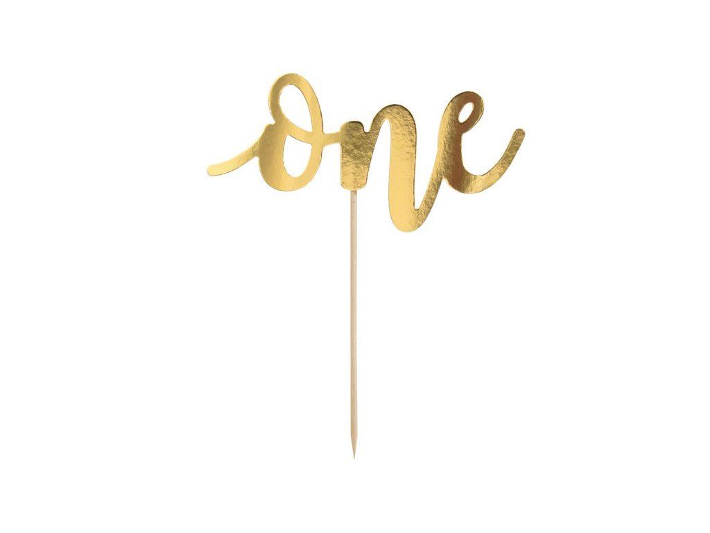 Χάρτινο Διακοσμητικό Τούρτας One Χρυσό