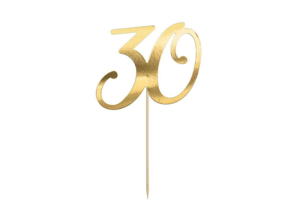 Χάρτινο Διακοσμητικό Τούρτας 30 Χρυσό
