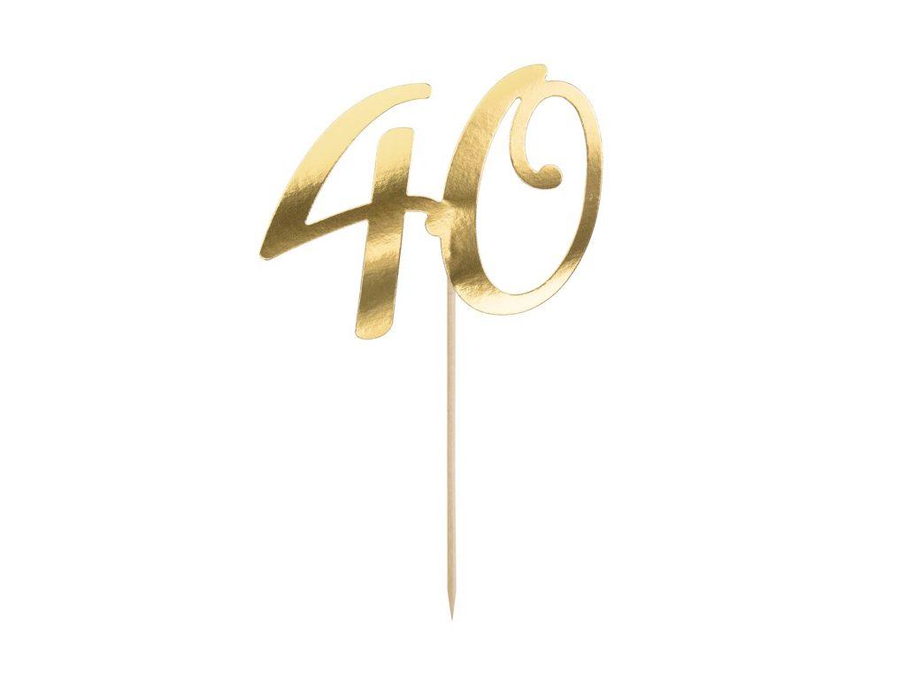 Χάρτινο Διακοσμητικό Τούρτας 40 Χρυσό