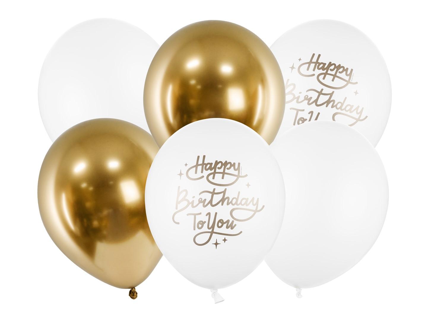 Σετ Μπαλόνια Latex Happy Birthday To You – 6 Τεμάχια