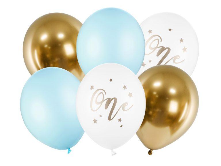 Σετ Μπαλόνια Latex One Γαλάζιο – 6 Τεμάχια