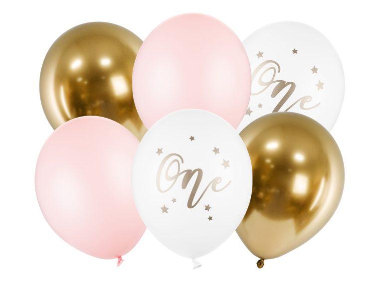 Σετ Μπαλόνια Latex One Ροζ – 6 Τεμάχια