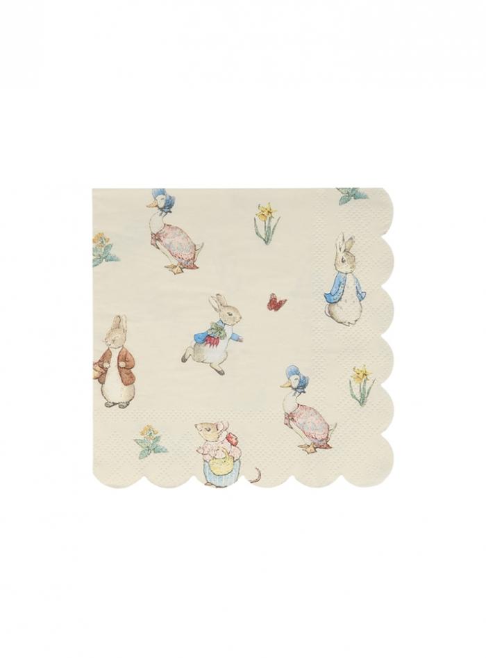 Meri Meri Χαρτοπετσέτες Γλυκού Peter Rabbit & Friends 12,7×12,7εκ
