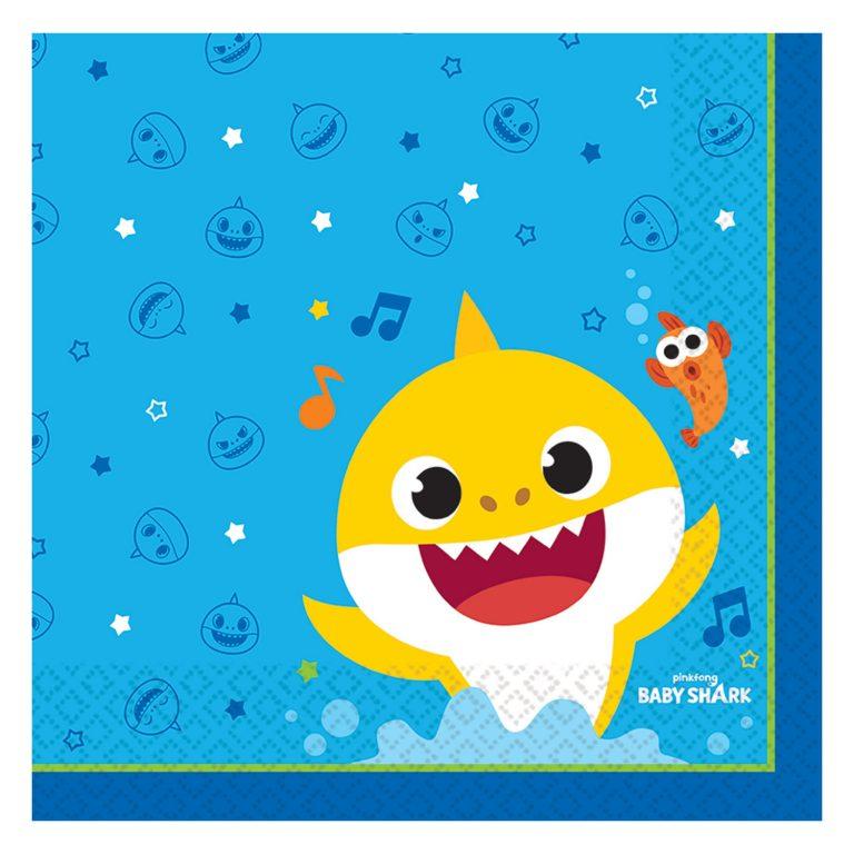 Χαρτοπετσέτες Baby Shark 33×33εκ – 16 Τεμάχια
