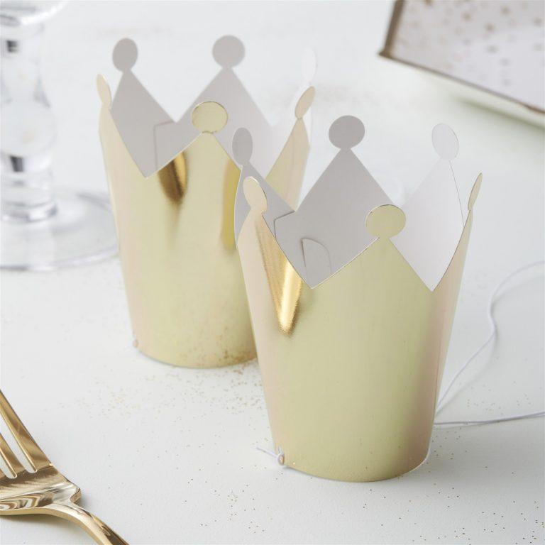 Χάρτινες Κορώνες Χρυσές – 5 Τεμάχια