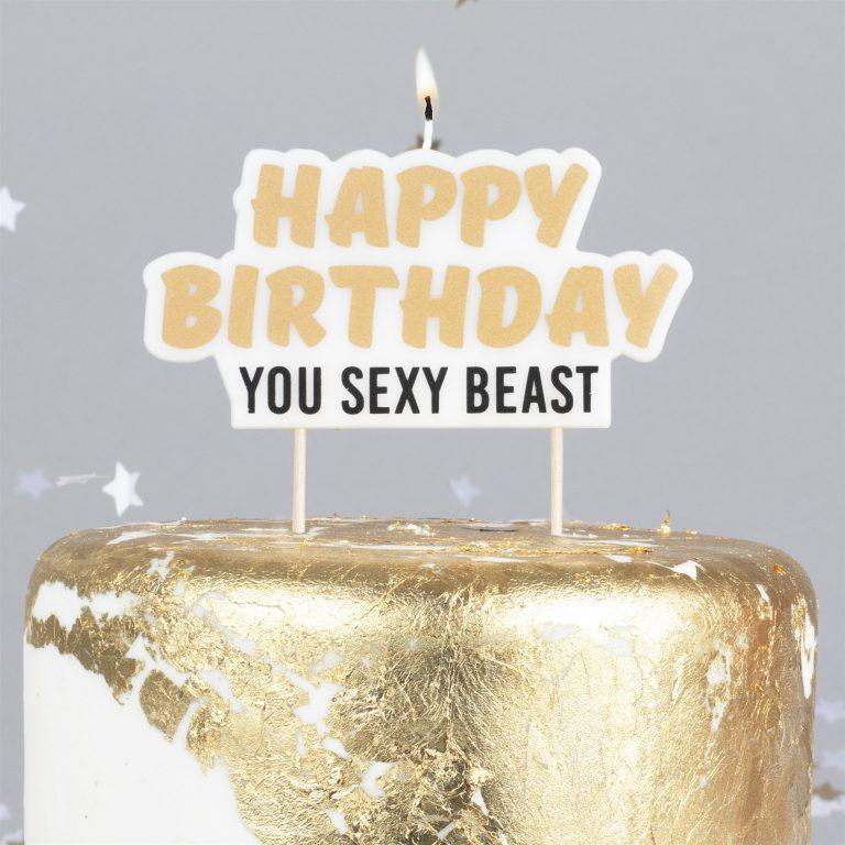 Κεράκι HAPPY BIRTHDAY YOU SEXY BEAST