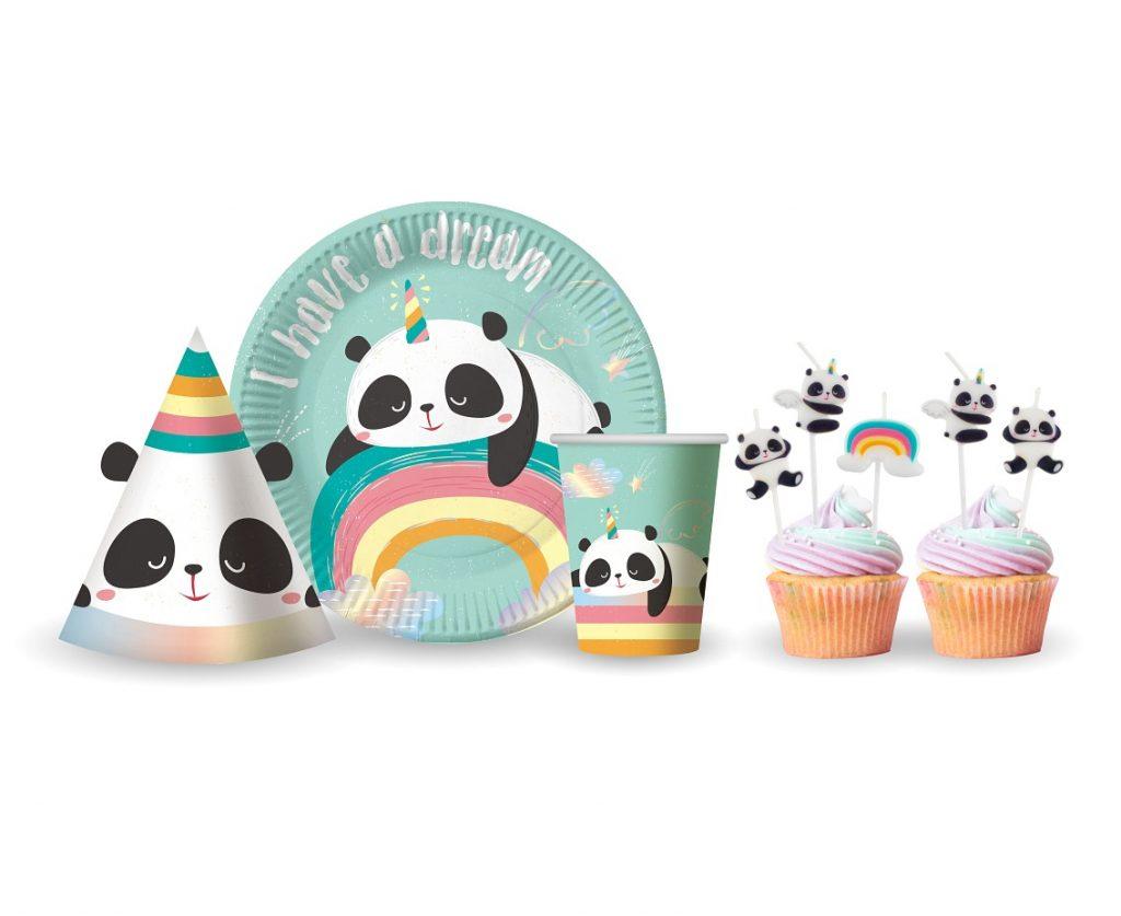 Χάρτινα Καπελάκια Dreamy Panda – 6 Τεμάχια