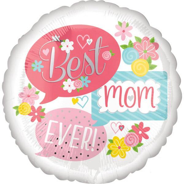 Μπαλόνι Foil Best Mom Ever Floral 43εκ