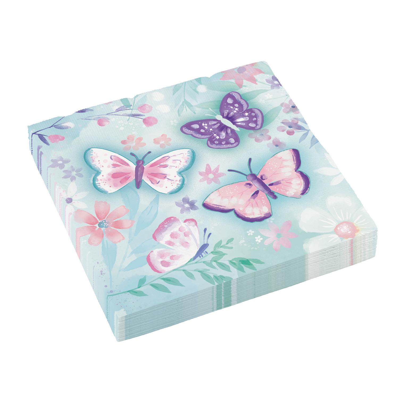 Χαρτοπετσέτες Πεταλούδες 33×33εκ – 16 Τεμάχια