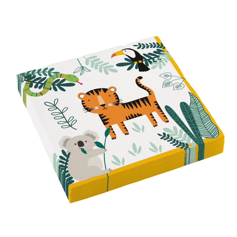 Χαρτοπετσέτες Ζωάκια Ζούγκλας 33×33εκ – 20 Τεμάχια