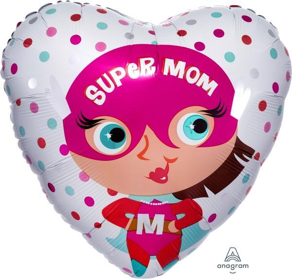 Μπαλόνι Foil Καρδιά Super Mom 43εκ