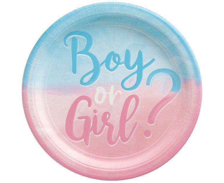 Χάρτινα Πιάτα Boy or Girl? 23εκ – 8 Τεμάχια