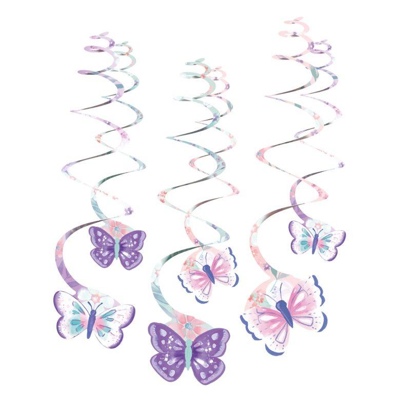 Κρεμαστά Διακοσμητικά Πεταλούδες – 6 Τεμάχια