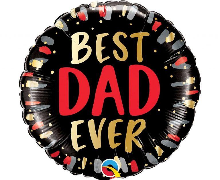Μπαλόνι Foil Best Dad Ever Black 45εκ