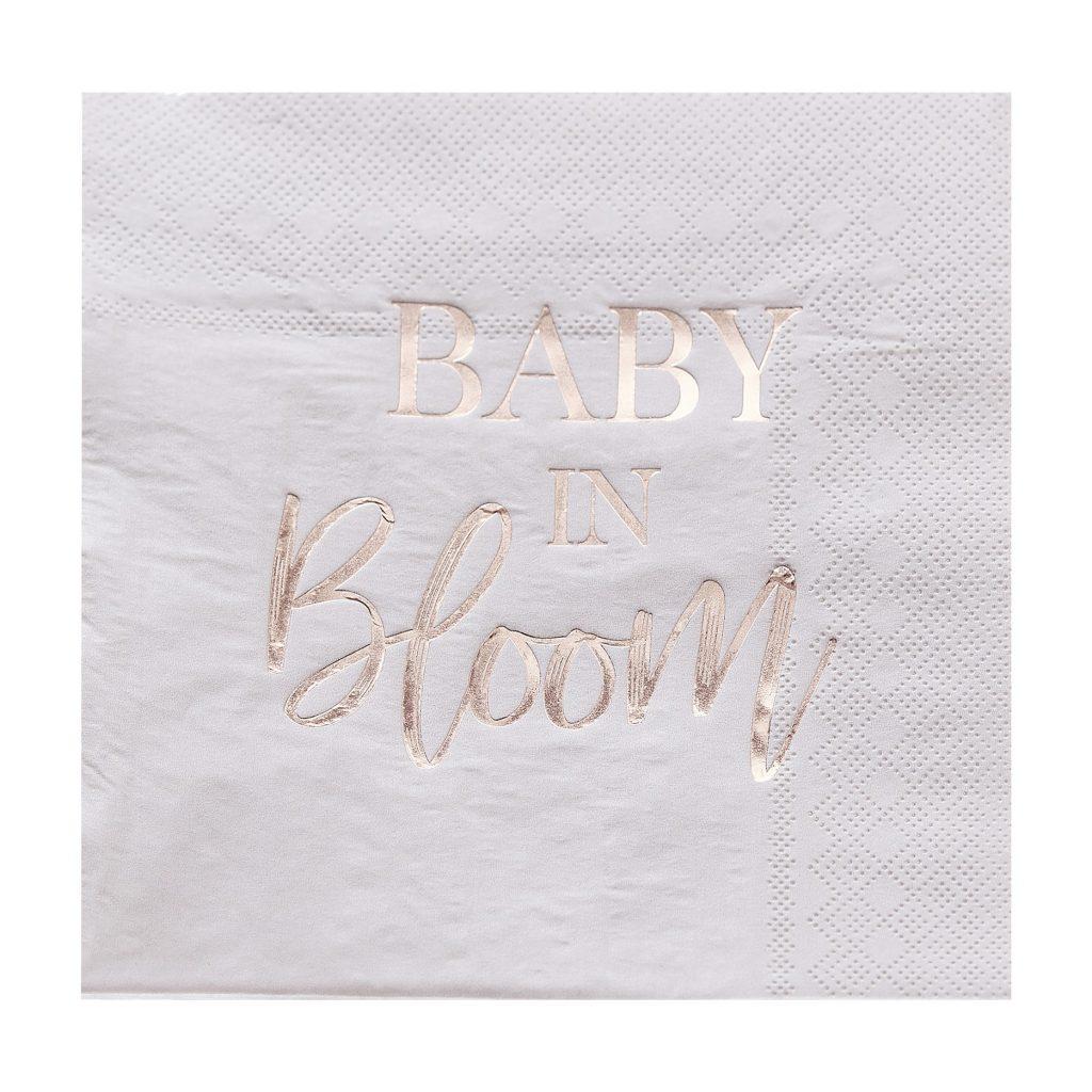 Χαρτοπετσέτες Baby In Bloom 16×16εκ – 16 Τεμάχια