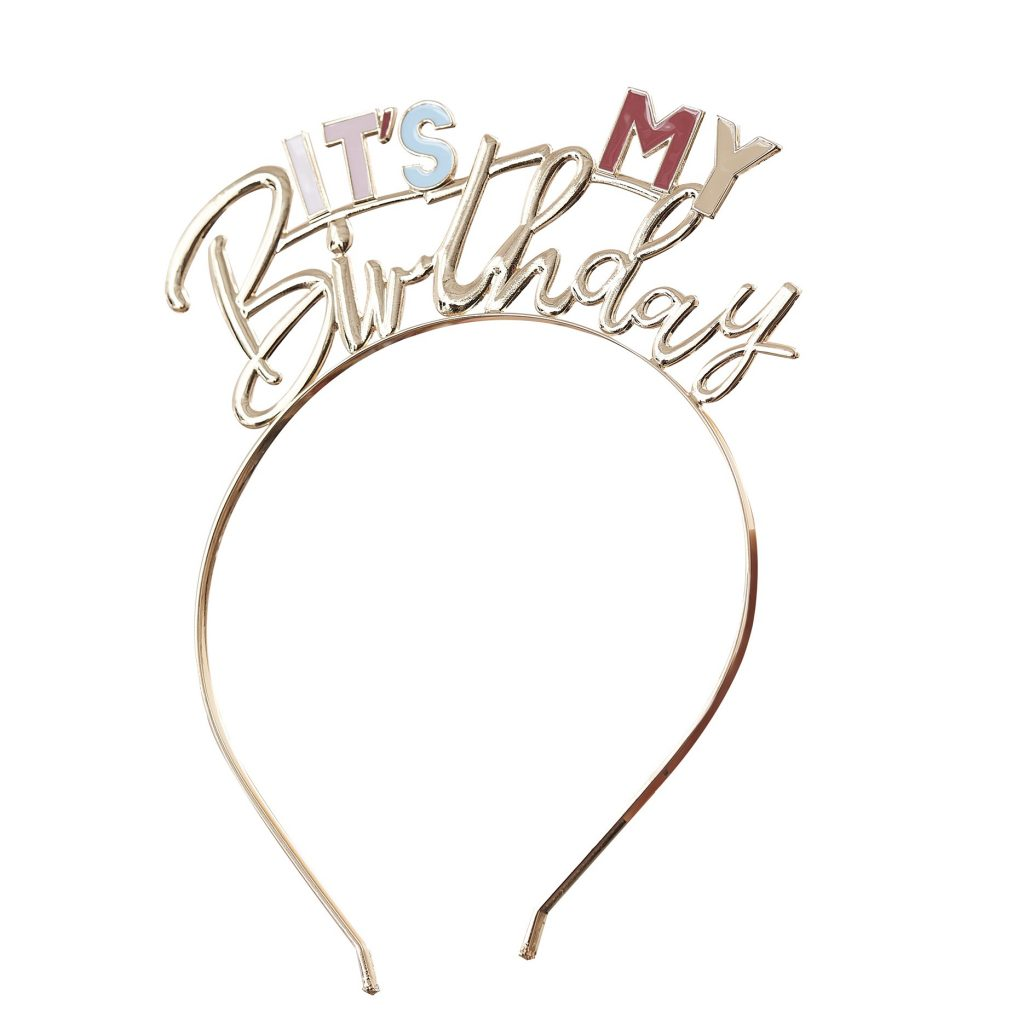 Στέκα Μεταλλική It's My Birthday Χρυσή