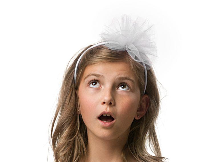 Στέκα Παιδική με Λευκό Τούλι