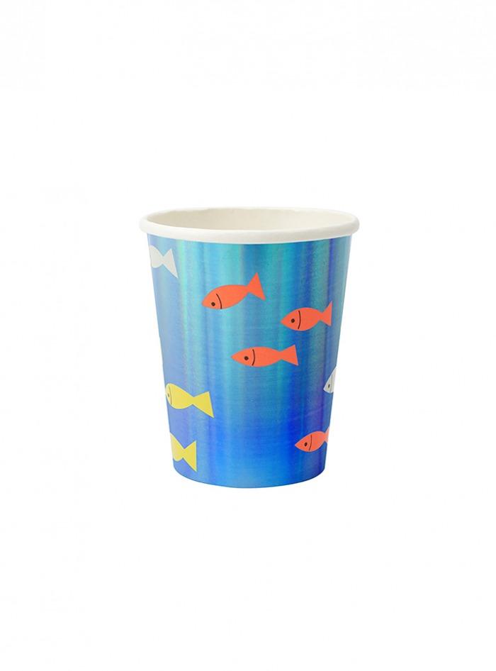 Χάρτινα Ποτήρια Meri Meri Under The Sea 260ml – 8 Τεμάχια