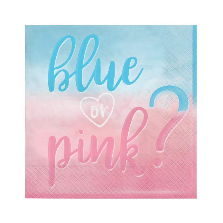 Χαρτοπετσέτες Blue or Pink 33×33εκ – 16 Τεμάχια