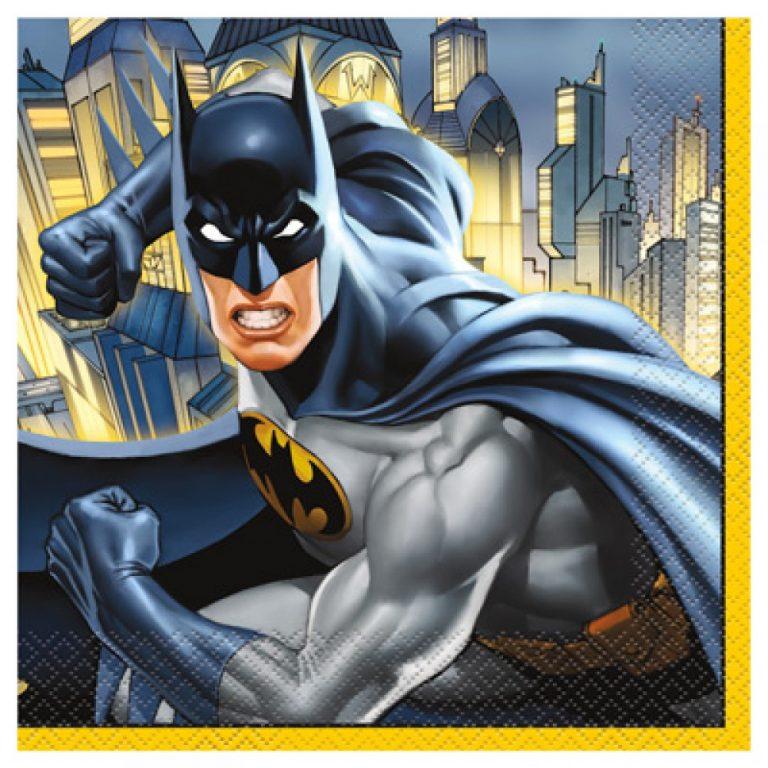 Χαρτοπετσέτες Batman 33×33εκ – 16 Τεμάχια