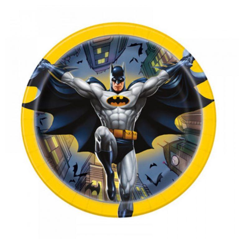 Χάρτινα Πιάτα Batman 17,1εκ – 8 Τεμάχια