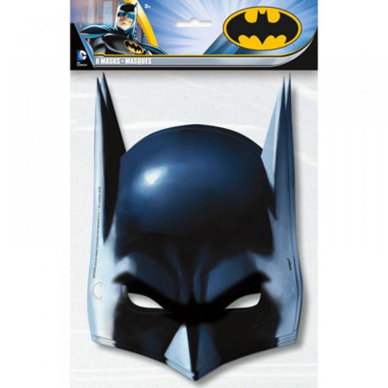 Χάρτινες Μάσκες Batman – 8 Τεμάχια