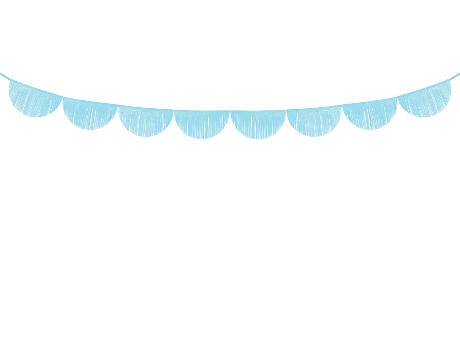 Χάρτινη Γιρλάντα με Κρόσια Γαλάζια – 3 Μέτρα