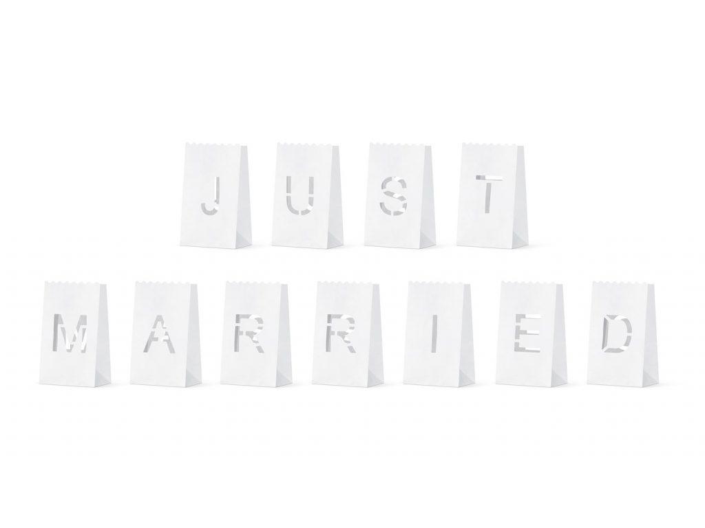 Χάρτινα Σακουλάκια για Ρεσώ Just Married
