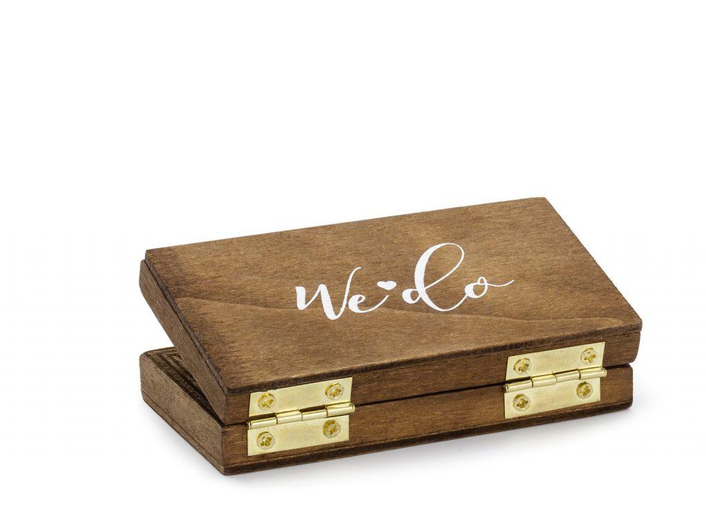 Ξύλινο Κουτάκι για Βέρες Mr & Mrs