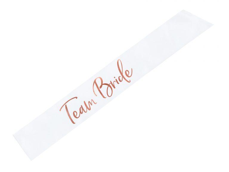 Κορδέλα Σατέν Team Bride Ροζ Χρυσό