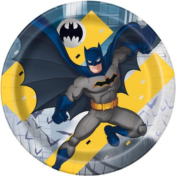 Χάρτινα Πιάτα Batman 21,9εκ – 8 Τεμάχια