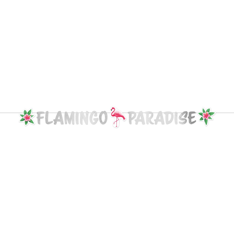 Χάρτινη Γιρλάντα Flamingo Paradise