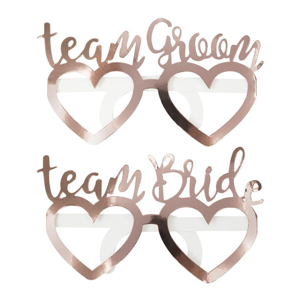 Χάρτινα Γυαλιά Team Bride & Team Groom – 8 Τεμάχια