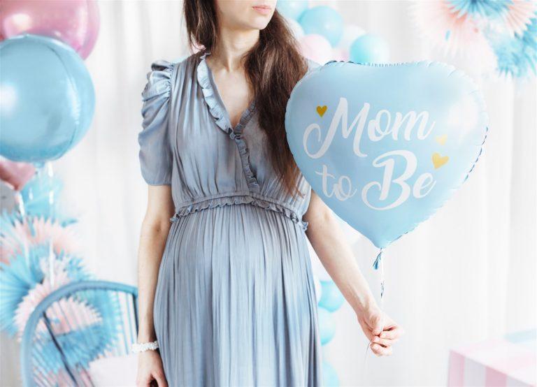 Μπαλόνι Foil Καρδούλα Mom to Be Γαλάζιο 35εκ