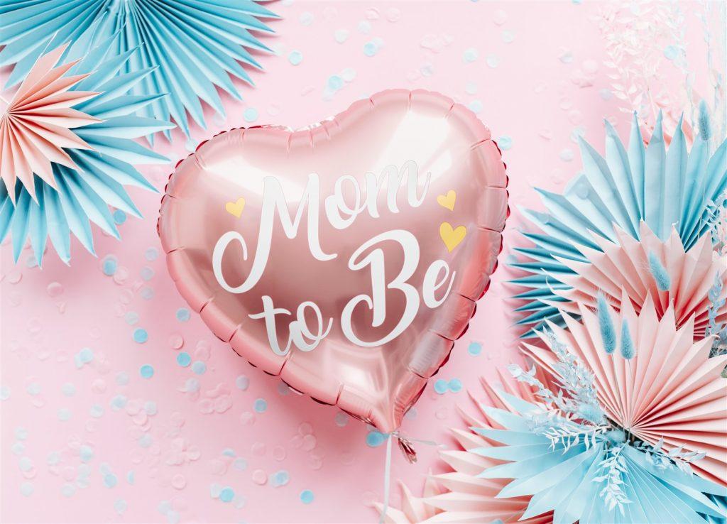 Μπαλόνι Foil Καρδούλα Mom to Be Ροζ 35εκ