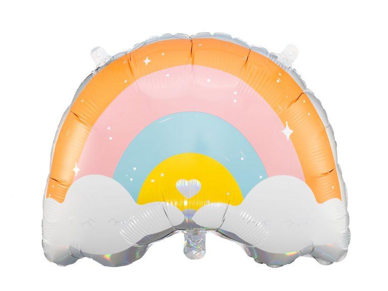 Μπαλόνι Foil Ουράνιο Τόξο & Συννεφάκια 55×40εκ