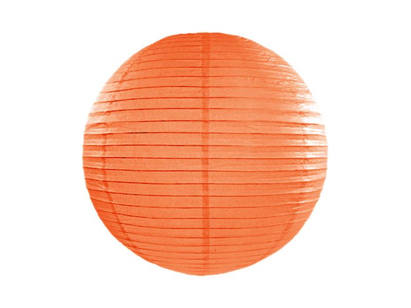 Χάρτινο Διακοσμητικό Φαναράκι Πορτοκαλί 35εκ