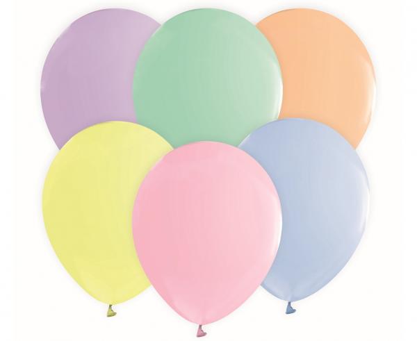 Μπαλόνια Latex Pastel 30εκ – 10 Τεμάχια