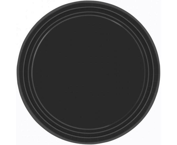 Χάρτινα Πιάτα Μαύρα 22,8εκ – 8 Τεμάχια