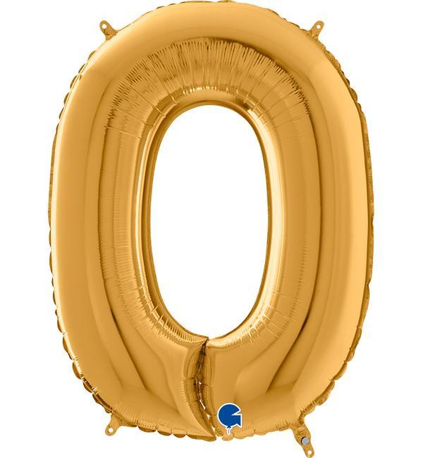 Μπαλόνι Foil Χρυσό Αριθμός Μηδέν 66εκ
